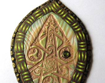 Celtic Fairy Door Miniature Fairy Garden Decor, Polymer Clay