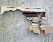 Maryland Wall Art.  Architectural Salvage Baltimore Decor, Wood Maryland Decor Chesapeake Bay Art, Wood Wall Art, Wooden Maryland Art