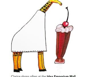 Clarice's Ice Cream Postcard