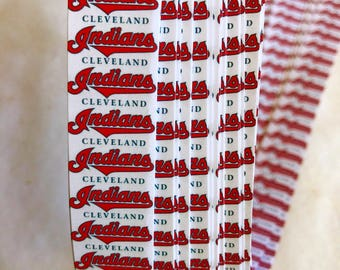 """3/4"""" Weaving Star Paper~ Cleveland Indians (50 strips)"""