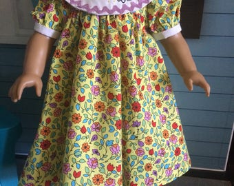 18 inch doll clothes- Yellow Floral BLOOM Party Dress