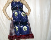 REsERvED 4 Deanne Nightmare Before Christmas Dress Ugly Sweater Party Burton Fur Santa Holiday Dress Purple Red Plaid Adult S M L XXL