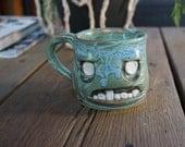 Zombie mini-mug Hand thrown, ceramic