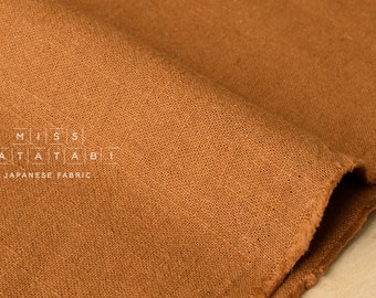 Japanese Fabric Solid Canvas - terracotta - 50cm