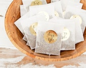 Gold Foil TOSS ME Stickers - Wedding Favor Stickers - Wedding Toss Bag DIY-  24 Stickers