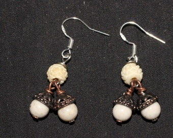 Acorn Earrings with Sterling Silver Earwires - Woodland, Oak, Forest-Lover, Pagan, Wood