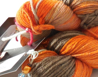 "Old School Merino Worsted Weight yarn in ""Ember"" by AnniePurl"