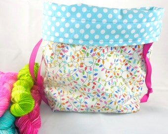 Twinkle Lights project bag by AnniePurl