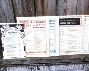 67 Pages (Five Gorgeous Pieces) of Antique Sheet Music