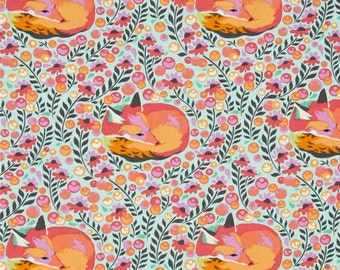Tula Pink FABRIC - Chipper - Fox Nap in Sorbet