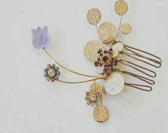 Women Hair Flower Hair Comb Accessories  Hair Jewelry  Cocktail Accessories