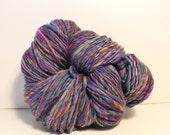 RESERVED FOR ROSEMARY  Handspun Merino Wool Yarn.  Single Ply Worsted Weight. Huge Skein. 14oz. 460 yards