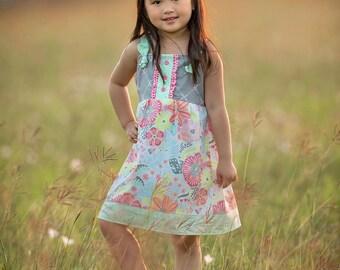 Girls Flower Dress - Girls Floral Dress - Girls Dress - Girls Party Dress - Flower Girl Dress - Girls Sundress - Girls Summer Dress - Dress
