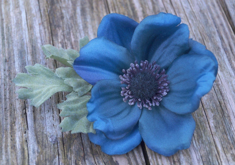 Silk anemone hair clip blue wild flower decorative hair clip silk anemone hair clip blue wild flower decorative hair clip purple wild flower bridal mightylinksfo