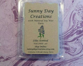 Lilac Scented 100% Natural Soy Wax Break Away Tarts 3 oz