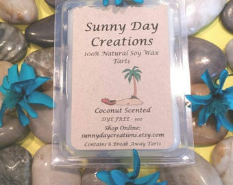Coconut Scented 100% Natural Soy Wax Break Away Tarts 3 oz