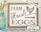 Fresh Eggs SVG - kitchen svg - farmhouse svg - farm eggs chicken svg  - Farm Fresh Eggs - Commercial Use svg cut file -  svg, dfx, png, jpg