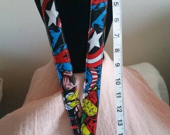 Superheroes Mash Lanyard