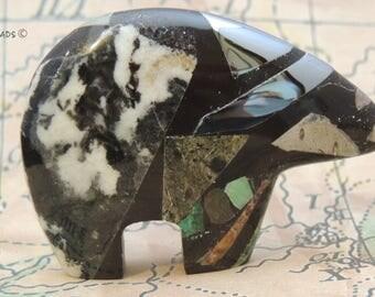 Discovery Stone HUGE Zuni Bear with EYE Watcher Guardian New Zuni Bears Gemstone