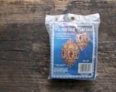 Vintage Fibre-Craft DIY Victorian Satins Rose Garden Christmas Ornament Kit