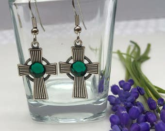 Earring Irish Cross