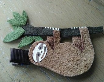 Sloth Furry Three-toed Leather Hair Clip #5