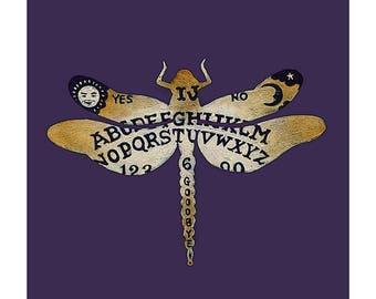 Ouija Dragonfly Print 12 x 12
