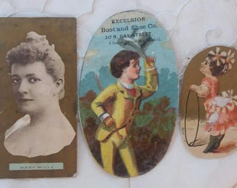 6 Antique Trading cards