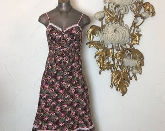 1970s dress set skirt and top 70s 2 piece set size medium prairie set gunne sax style bohemian dress