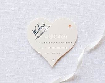 Wishing Well Tags - Marriage Advice Cards - Wedding Wish Tags - Wishes Tags - Heart Wish Tags