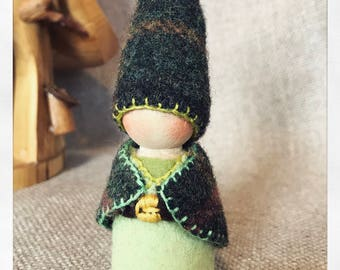 Mountain Mama Gnome Waldorf inspired Storytelling natural Dollhouse Natural Play kids
