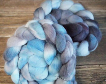 Targhee Combed Top, Spinning Fiber, Hand Dyed