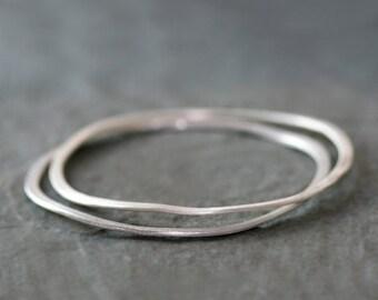 30% OFF WINTER SALE Wavy Bangle in Sterling Silver