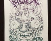 NOFX Seeing Double at the Triple Rock screenprinted poster
