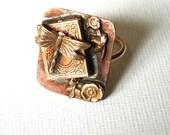 Dragonfly locket Ring