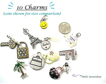 Charms Beading Supplies - 10 Mixed Charms - Beading Destash - S71