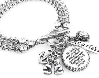 Silver Inspirational Jewelry - Power Quote - Charm Bracelet - Quote Jewelry - Saying Bracelet
