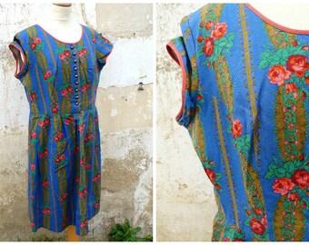 Vintage 1970/70s Tyrol trachten/Austria floral dirndl dress size XL