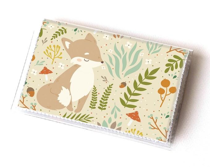 Vinyl Card Holder - Forest Fox 2  / fox wallet, woodland, forest, card case, vinyl wallet, women's wallet, small wallet, gift, animal, cute