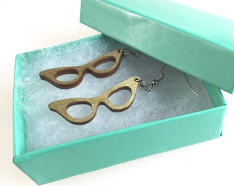 Cat Eye Glasses Earrings