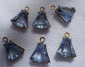 ON SALE 18% off Light Sapphire Blue Tiny Bell Drops One Loop 8mm 6