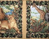 Fabric - African Animals - Several Different Fabrics - Quiltsy Destash Party