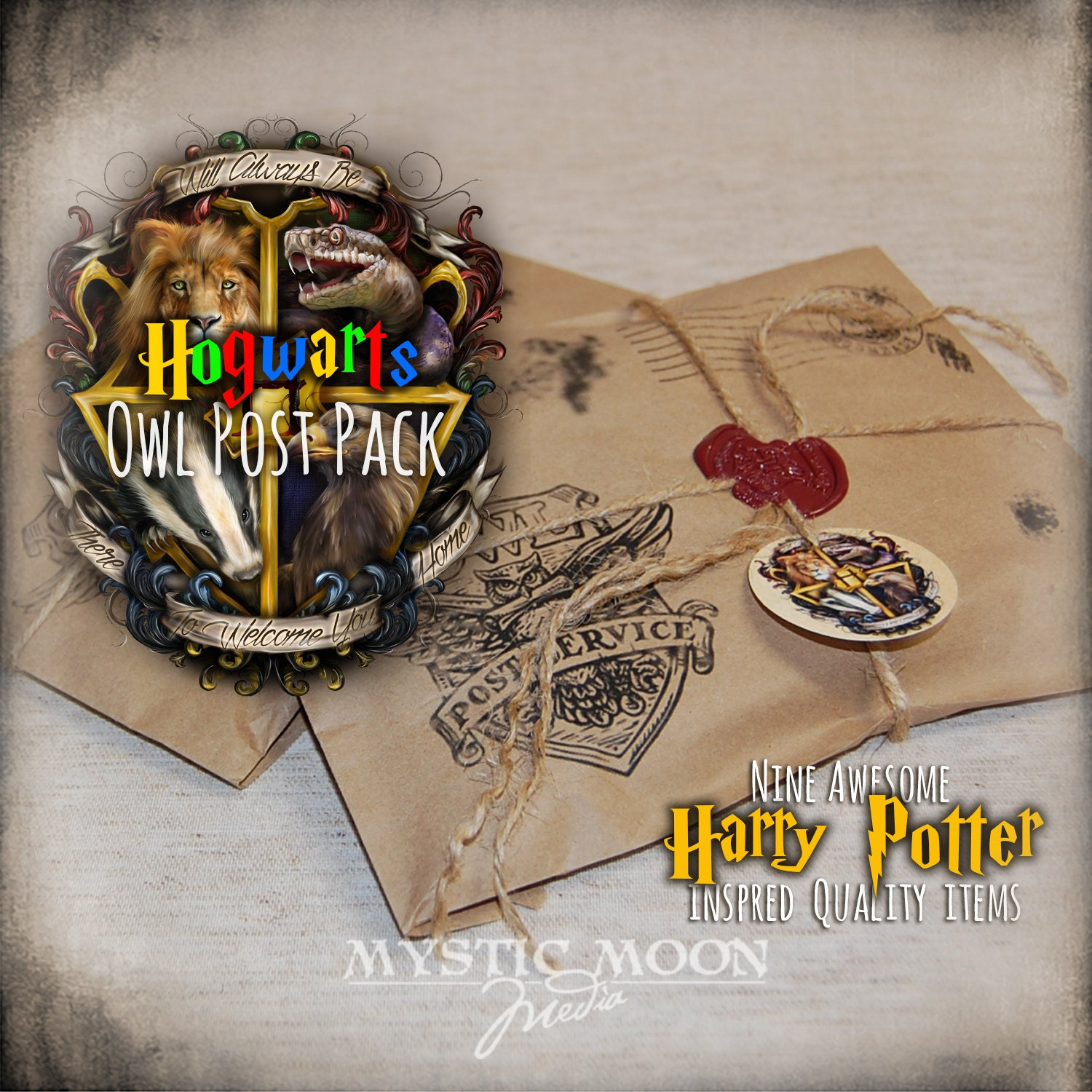 Hogwarts crest harry potter holiday gifts one 9 item for Harry potter christmas present ideas