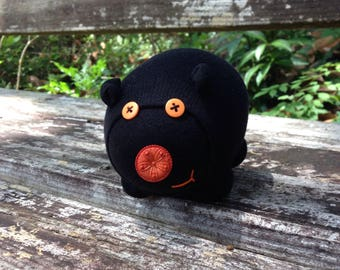 Sammy Spooksnuffles, Halloween sock piggy -Ready to ship!