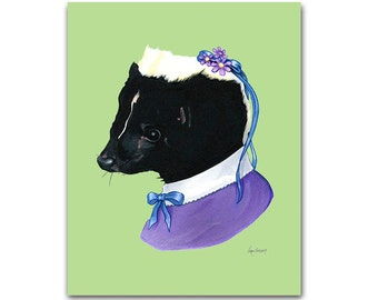 Mrs. Skunk print 8x10
