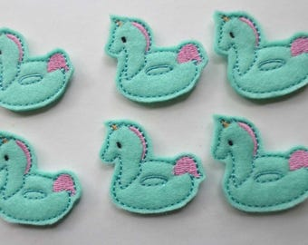 Unicorn Floatie  Embroidered Appliques - 501