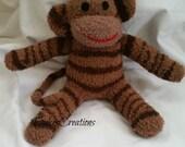 Gordon the sock monkey ready to ship