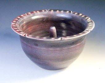 Purple Jewelry Bowl: Pottery Earring Bowl, Ring Holder, Jewelry Holder, Jewelry Dish