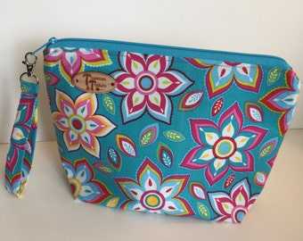 Bright Flowers Knitting Project Bag