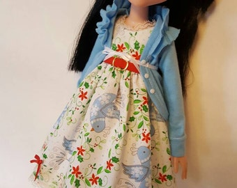 OOAK LITTLE BIRD Holiday Dress set for Tonner Maudlynne Macabre